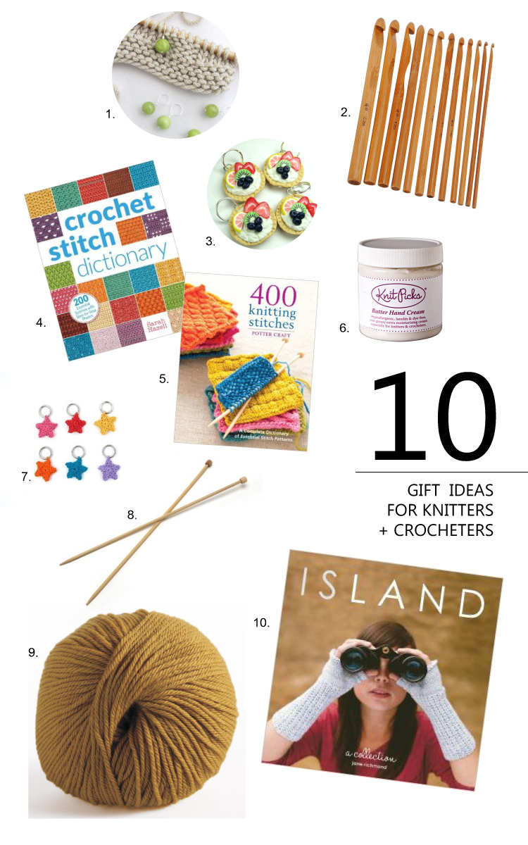 10 Gift Ideas for Knitters and Crocheters // Delia Creates