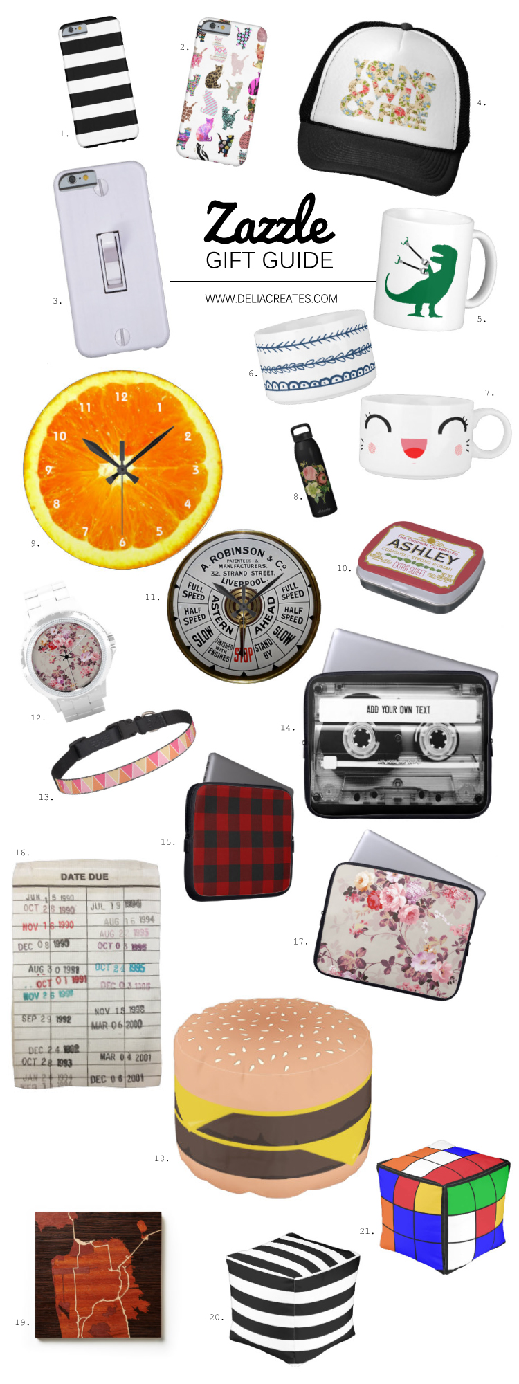 Zazzle gift guide and $50 Giveaway! // Delia Creates