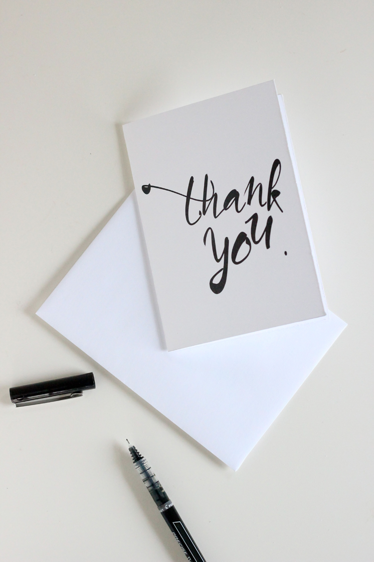 Free printable thank you cards for Where can i get business cards printed same day