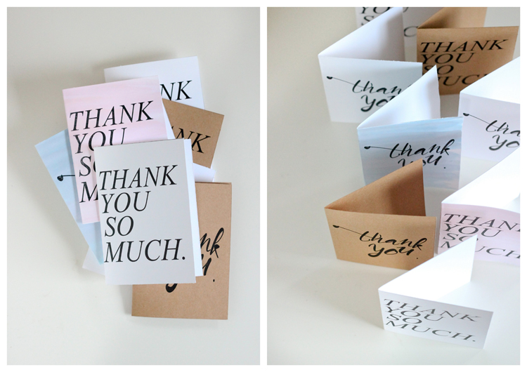 Free Thank You Card Printables // Delia Creates