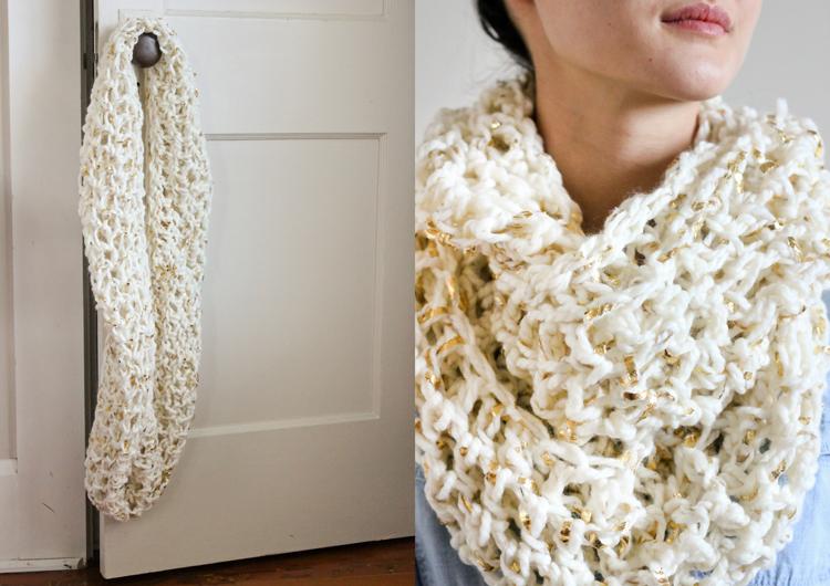 Chunky Crochet Infinity Scarf Free Pattern