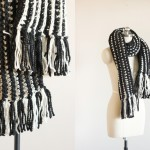 Striped Ribbed Fringe Scarf – Free Crochet Pattern