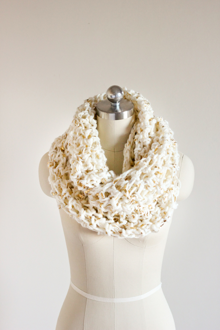 This scarf pattern works with any bulky weight size 6 yarn but i