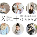 Six Free Crochet Scarf Patterns + $80 Lion Brand Yarn Giveaway