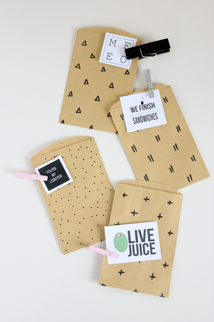Pop Culture Valentine Treat Bags // Delia Creates