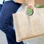Four Step Leather Tote TUTORIAL + Free Pattern