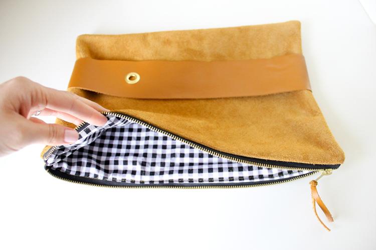 DIY Leather Strap Clutch Tutorial // Delia Creates