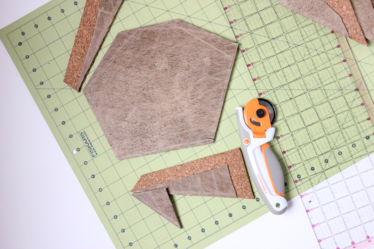 Super easy DIY Geometric Mouse Pad Tutorial // Delia Creates