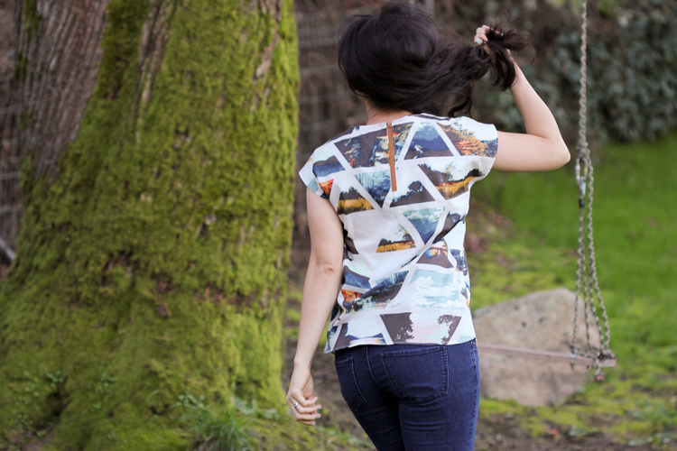 Wanderer fabric by April Rhodes + Zippy Top by See Kate Sew