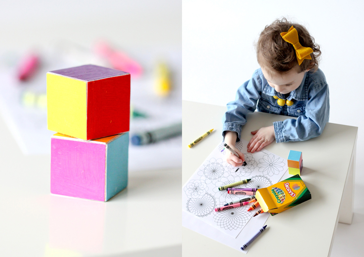 Toddler Coloring Dice... fun way to teach kids their colors! // Delia Creates