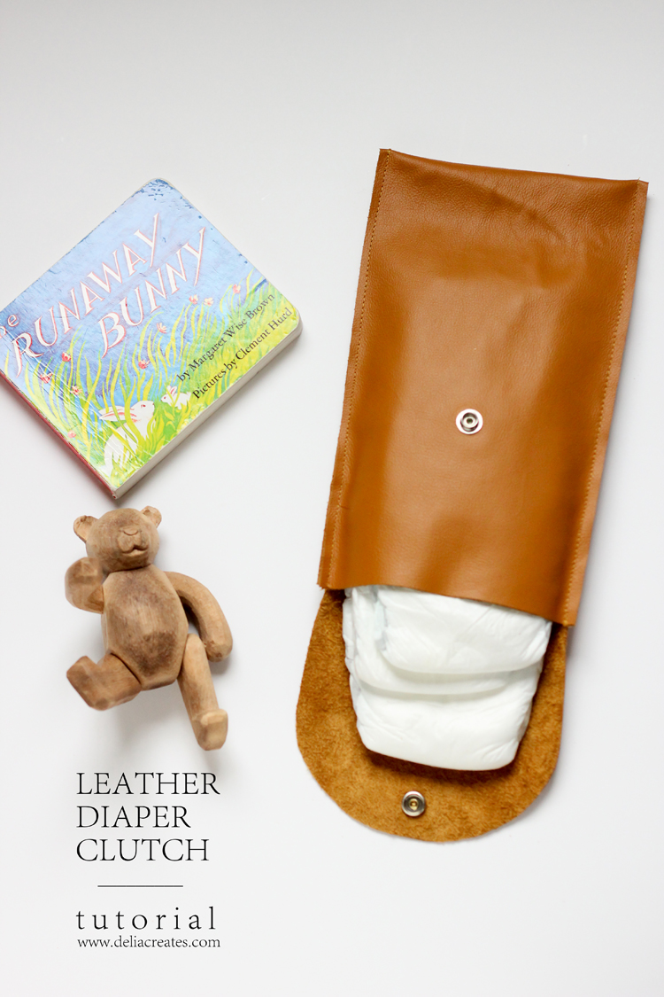 Make this simple leather diaper clutch using this really easy tutorial.