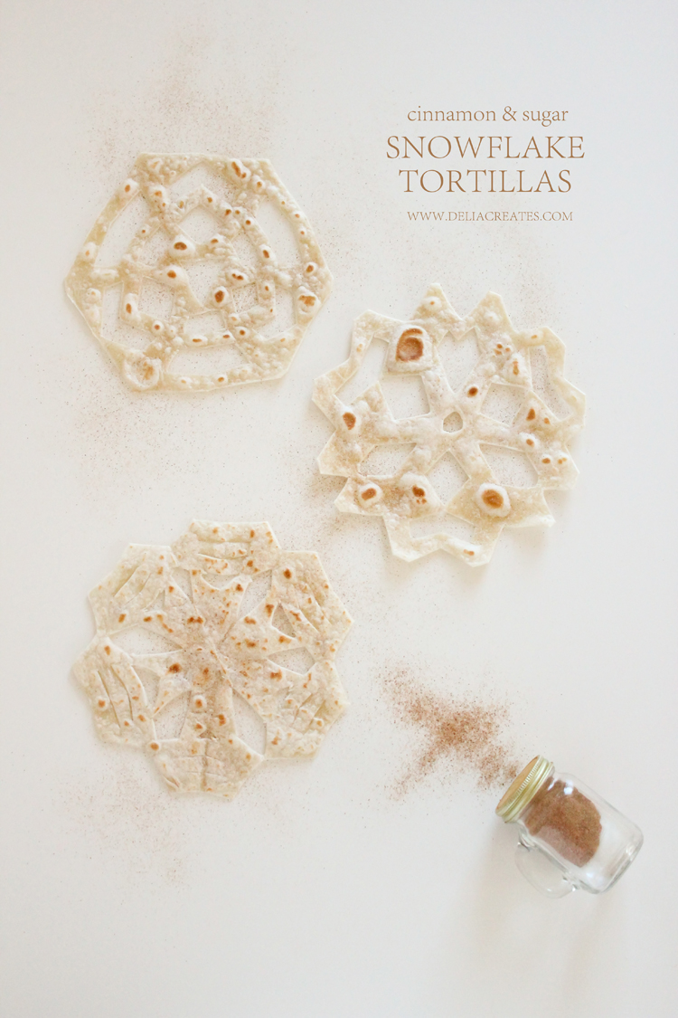 Easy Snowflake Tortillas // Delia Creates