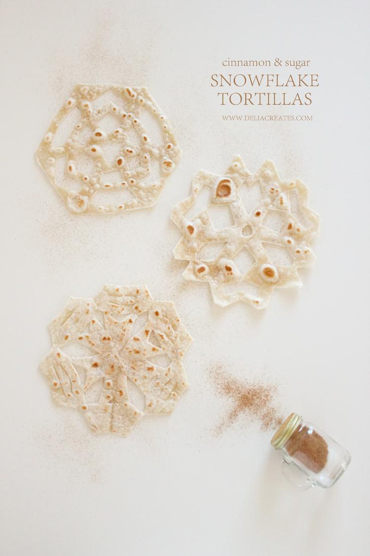 Easy Snowflake Tortillas // Delia Creates