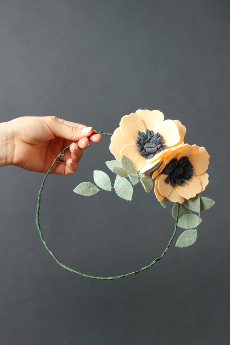 Felt Flower Crown // Delia Creates