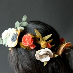 Felt Flower Crown + Clips