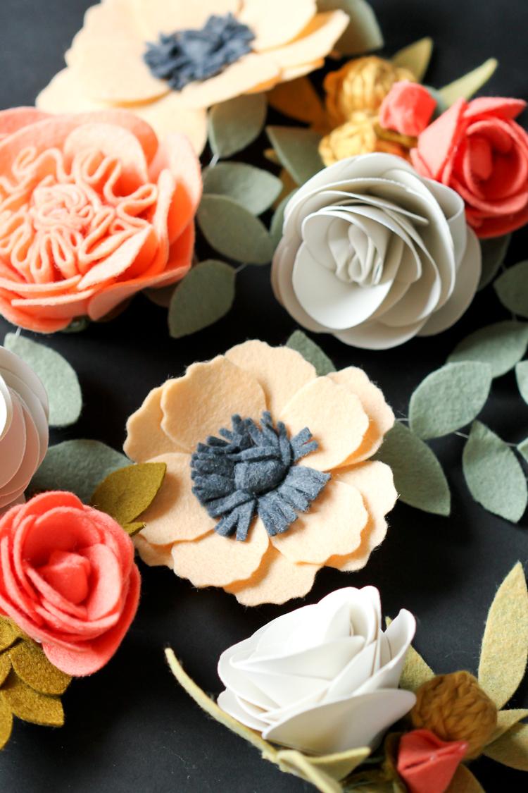 Felt Flowers Details + Clip Tutorial