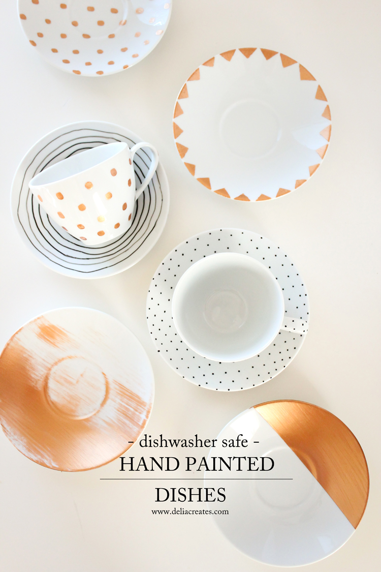 dishwasher safe painted dishes // Delia Creates ...  sc 1 st  Delia Creates & Dishwasher Safe Painted Dishes