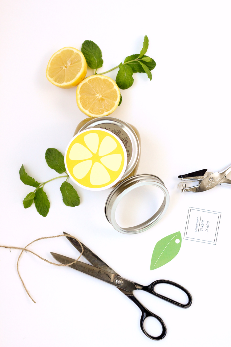 Citrus Sugar Scrubs recipes + FREE printable!  // Delia Creates
