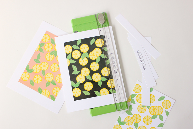 Citrus Slice Note Cards - FREE PRINTABLES // Delia Creates