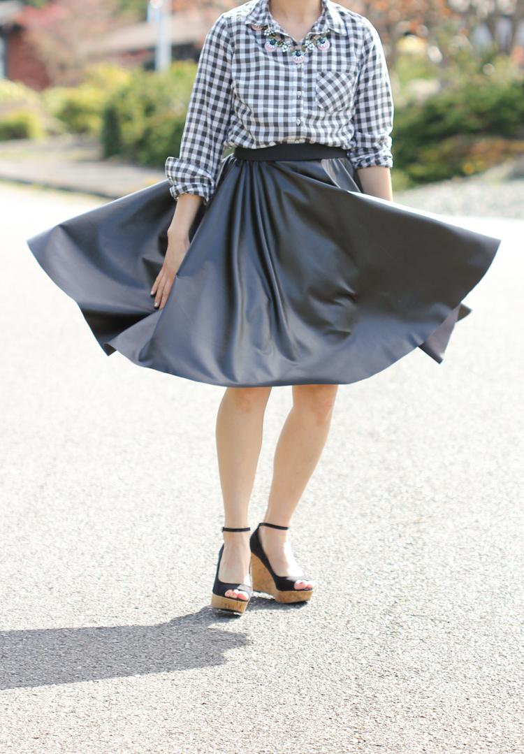 cfaab68d3 Vegan Leather Circle Skirts // Delia Creates
