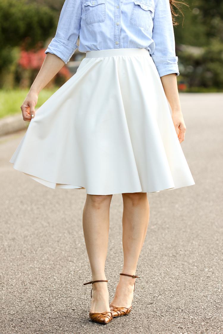Vegan Leather Circle Skirts // Delia Creates