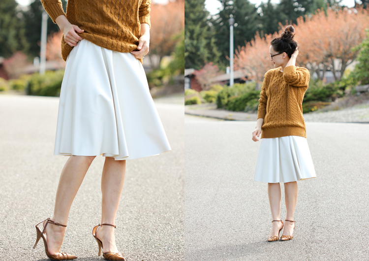 Vegan Leather Circle Skirts // Delia Creates