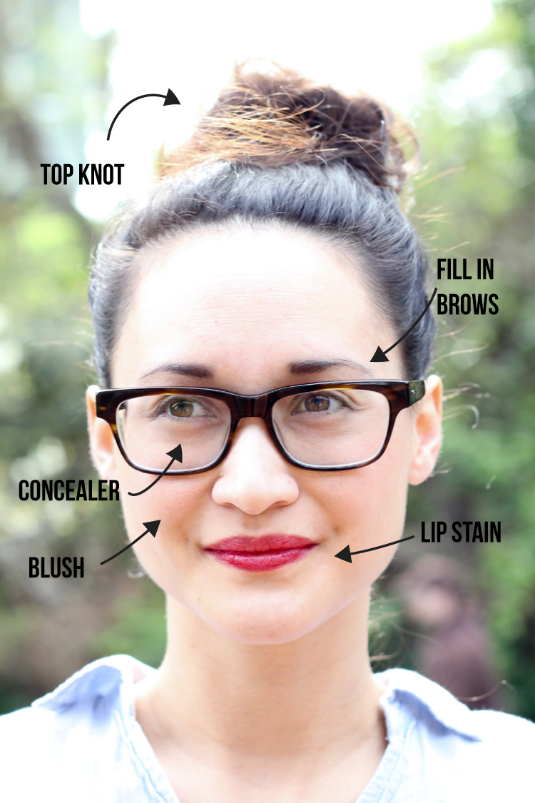 Momiform: My 4 Step Glasses + Makeup Routine