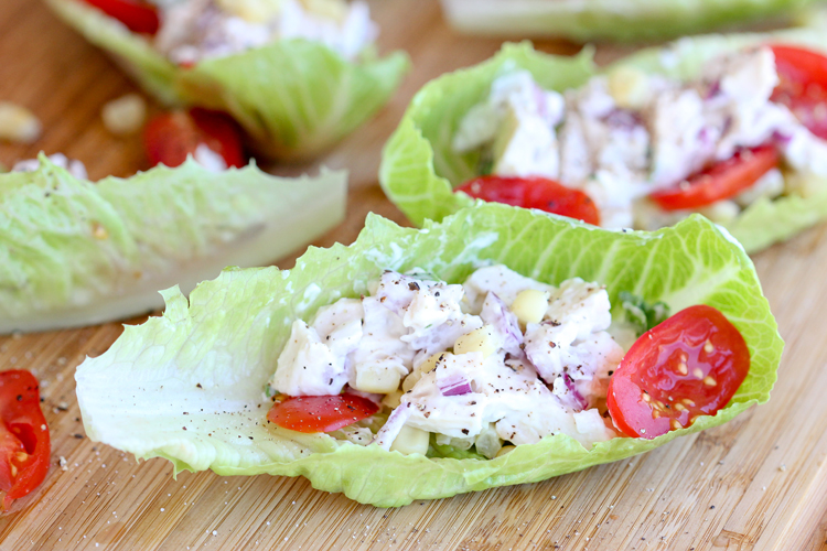 Great way to use up leftover chicken - Chicken Salad Wraps // Delia Creates
