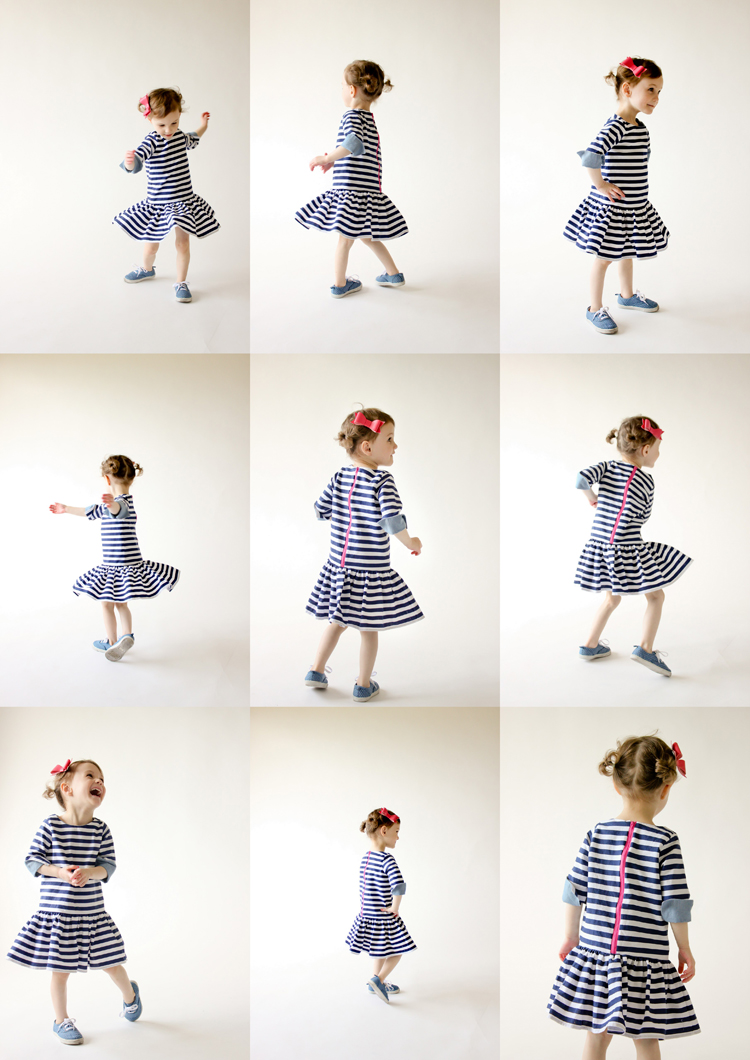Drop Waist Dress - Five and Ten Designs Volume 3 // Delia Creates