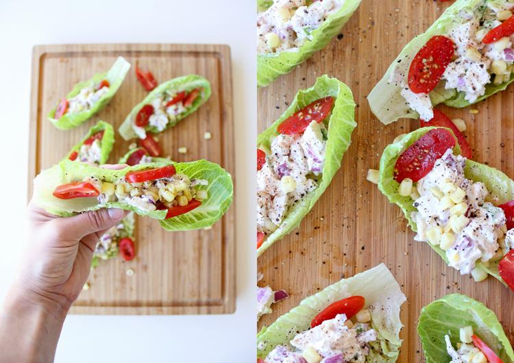 Great way to use up leftover chicken - Chicken Salad Wraps! // Delia Creates
