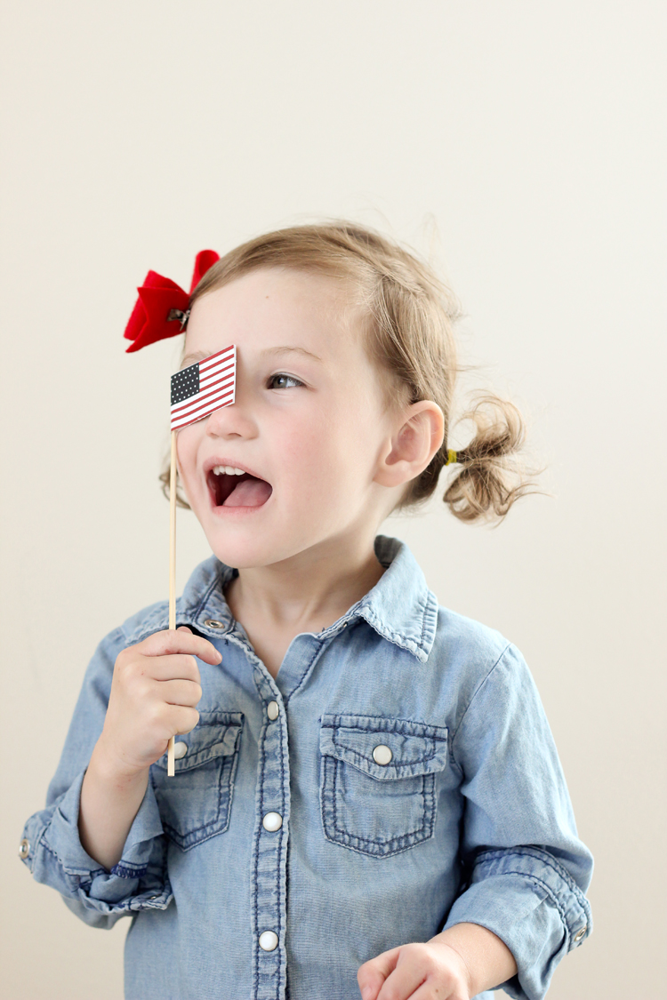 Free Printable Miniature U.S. Flags // Delia Creates