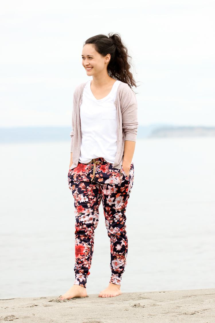 Floral Hudson Pants // Delia Creates