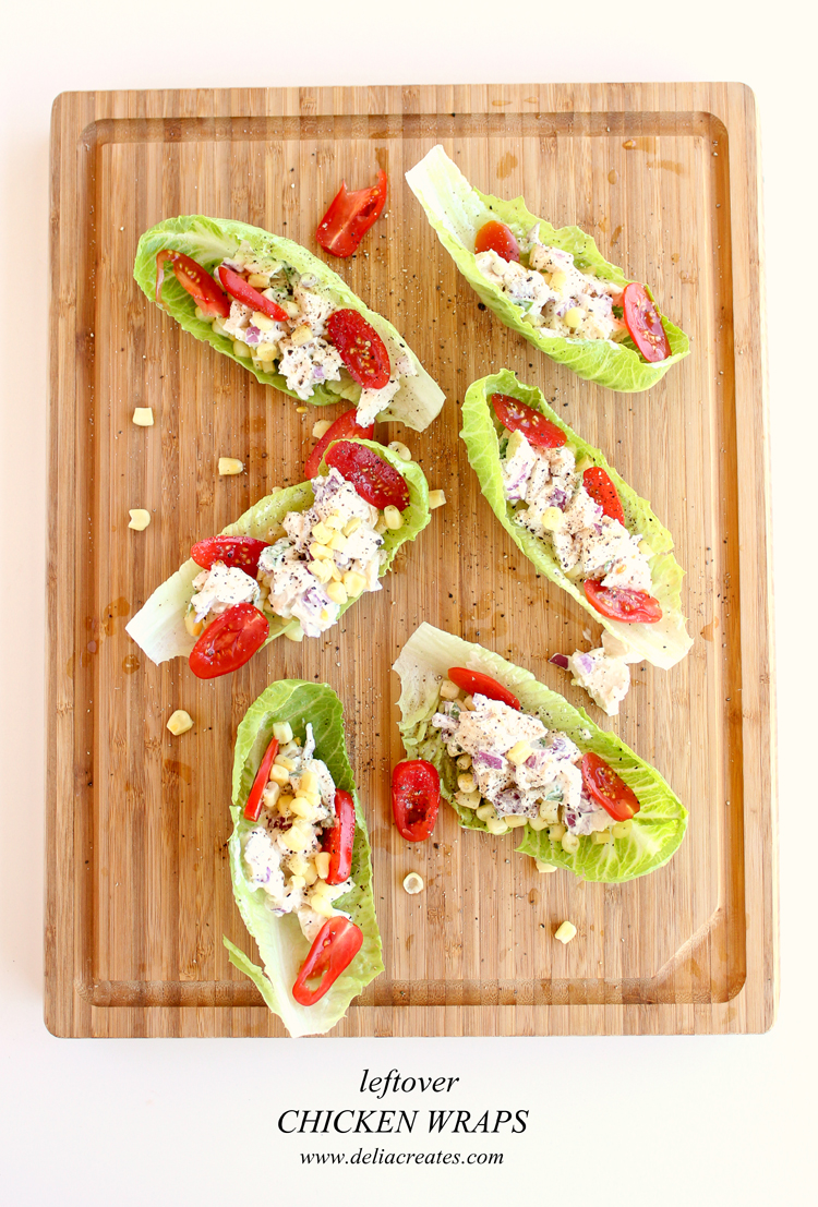 Great way to use up leftover chicken - Chicken Salad Wraps // Delia Creates