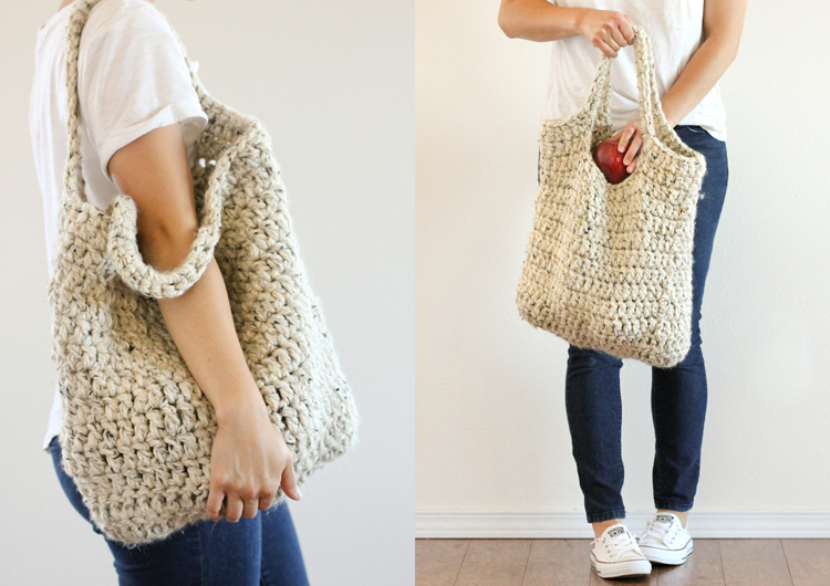 Free Crochet Patterns For Grocery Totes : Free Crochet Pattern: Sturdy Market Tote
