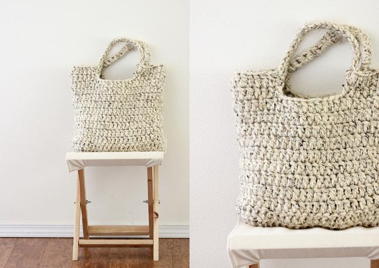 Free Crochet Pattern Sturdy Market Tote