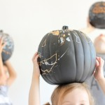 "Chalkboard Pumpkins – the easy way to ""carve"""