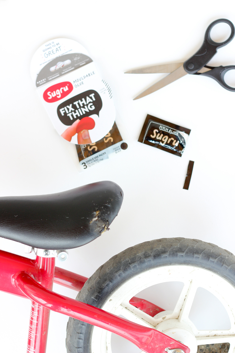 Super easy way to repair a bike seat // Delia Creates
