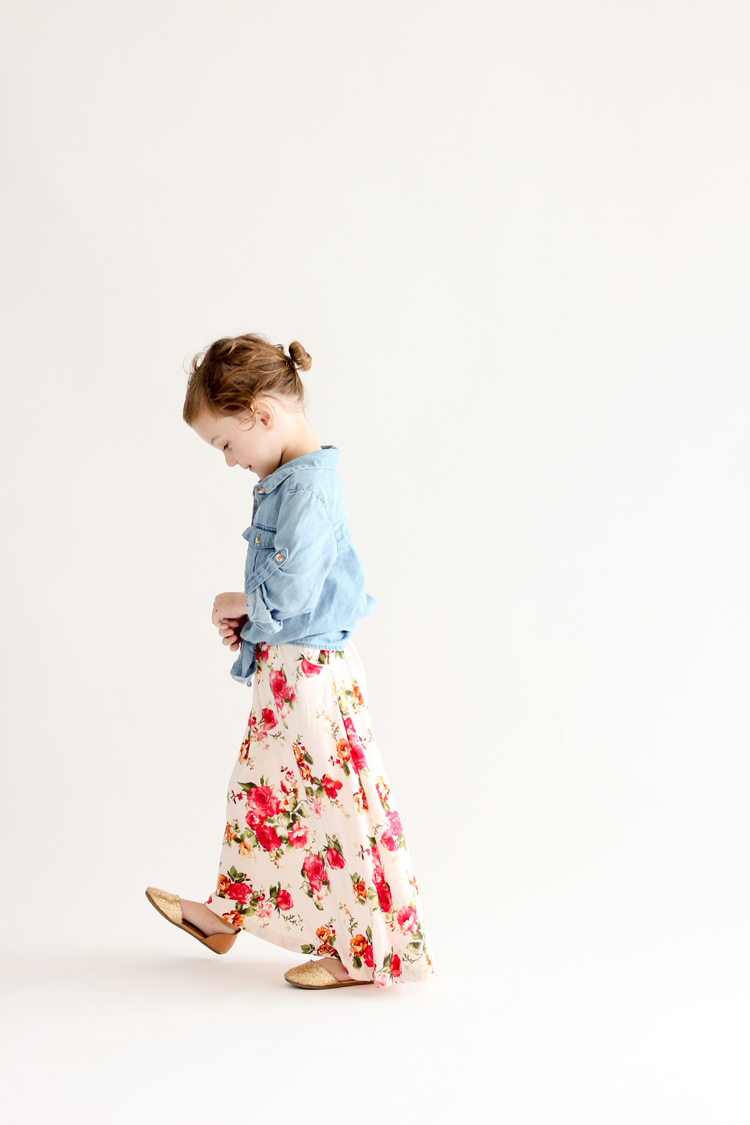 Toddler maxi skirt // sewn by Delia Creates // Pattern by Call Ajaire // fabric from Girl Charlee