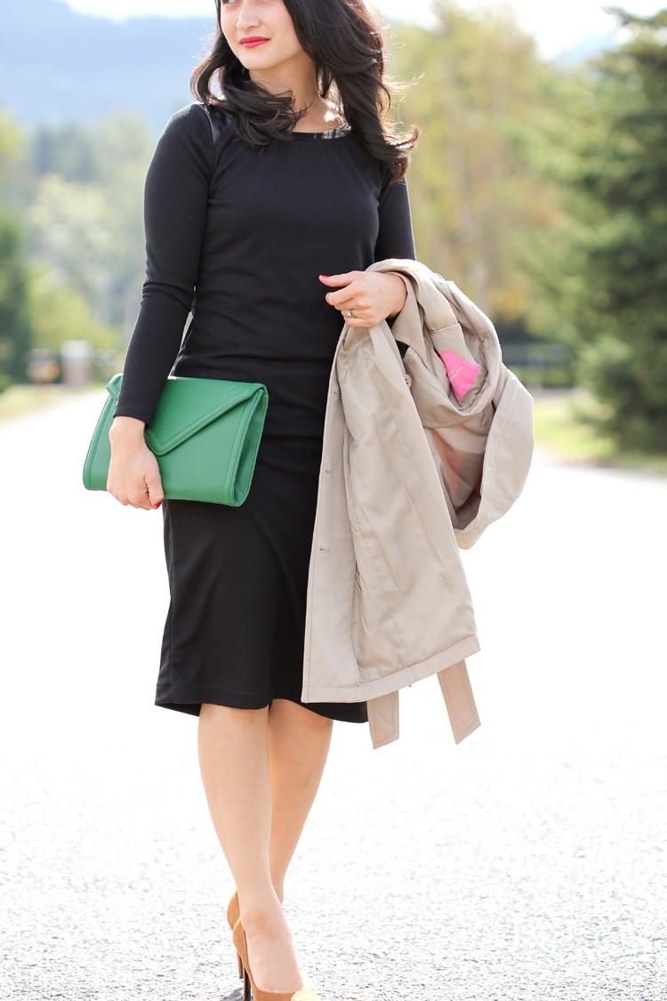 Long Sleeved Little Black Dress // Delia Creates