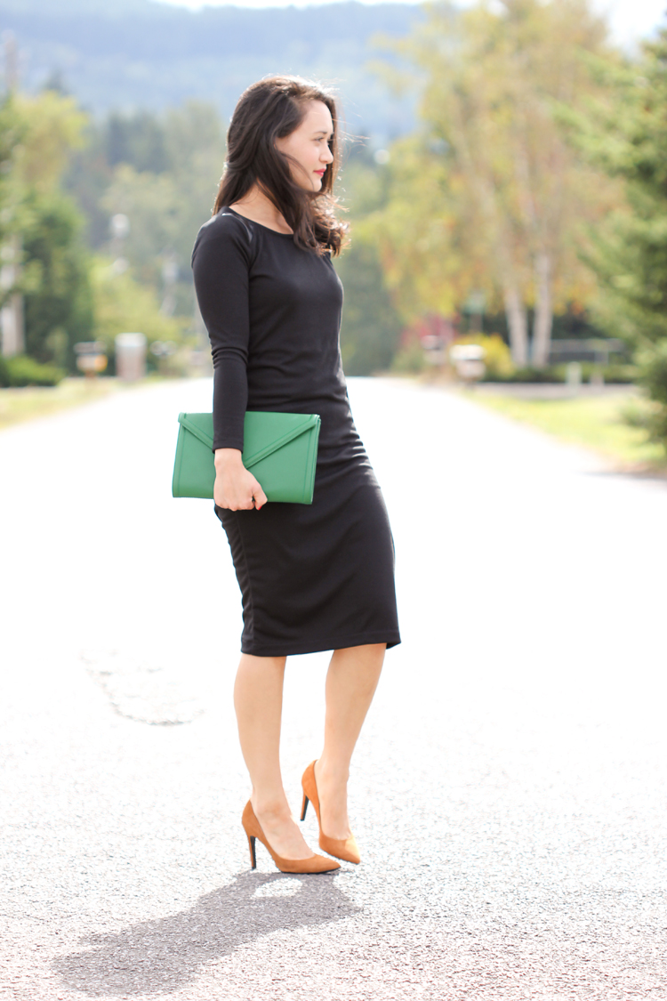 Long Sleeved Little Black Dress // Delia Creates