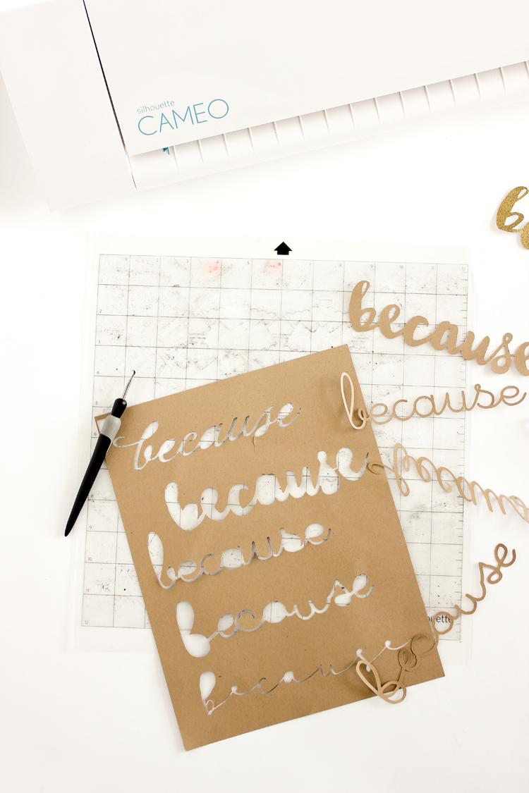 """""""Because"""" Typographic Topper // Delia Creates"""