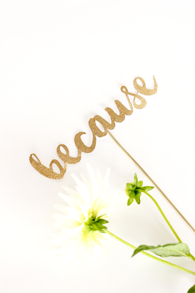 """Because"" Typographic Topper // Delia Creates"