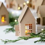 Christmas Advent Paper Houses
