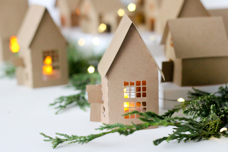 paper holiday houses free templates