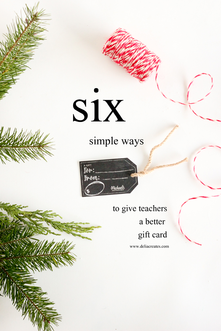 Six simple ways to give a better gift card // Delia Creates