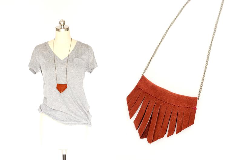 Easy leather bead necklace tutorial // Delia Creates