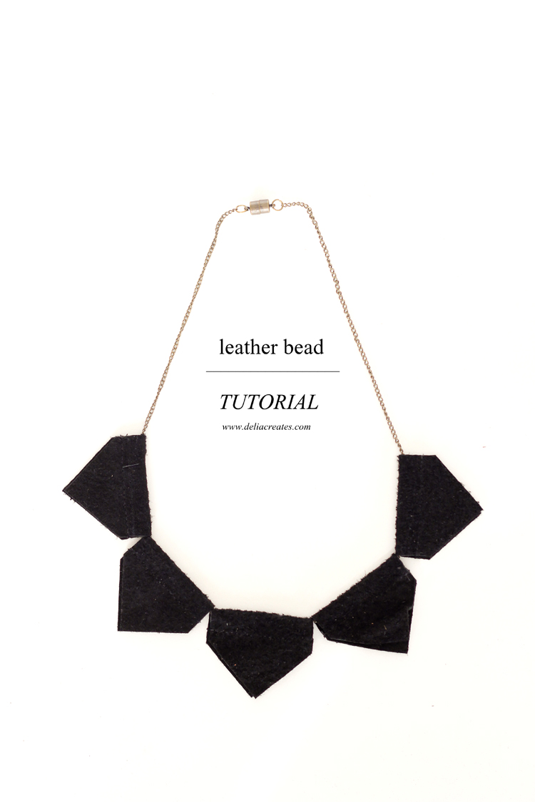 Easy leather bead necklace tutorial // Delia Creates