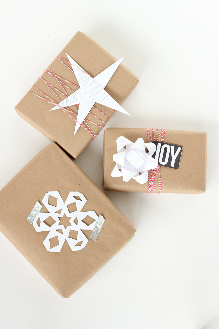 & Three Easy Kraft Paper Gift Wrapping Ideas