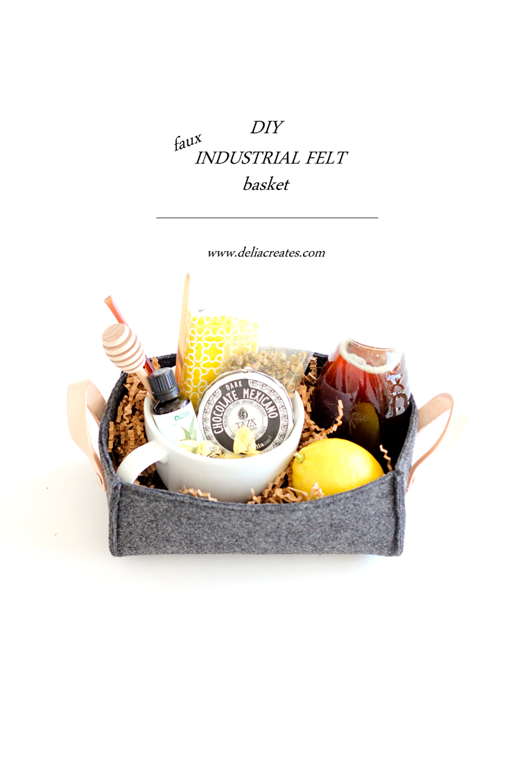 DIY Faux Industrial Felt Basket TUTORIAL // Delia Creates