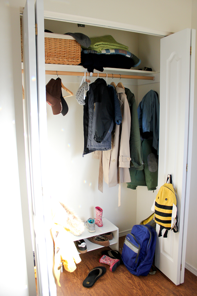 Coat Closet Organization // Delia Creates